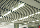 Decorating Metal Suspended Aluminum Ceiling Waved shaped 0.7mm For office ceiling tiles