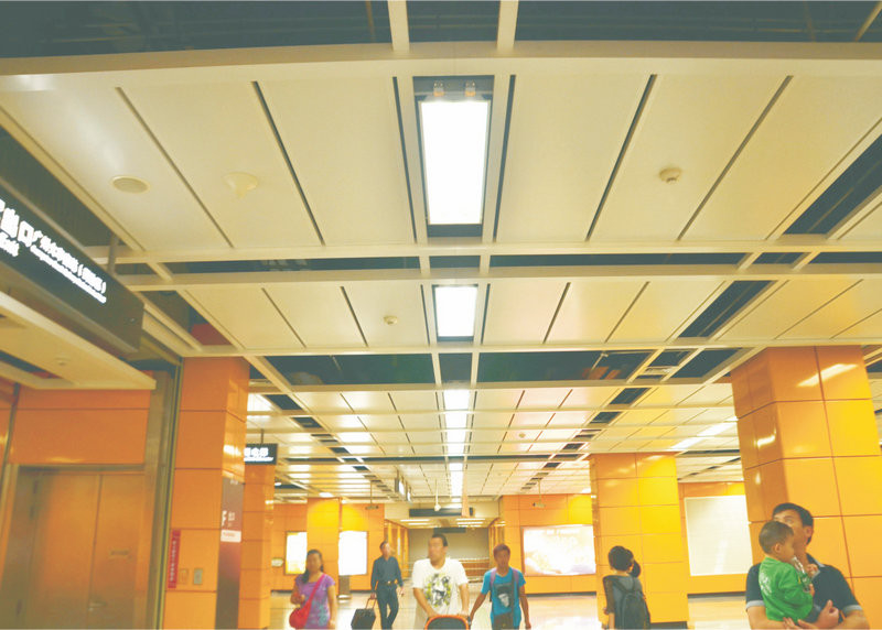 interior roof board Perforated Metal Ceiling Fireproof , aluminum suspended Ceiling